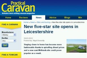 Practical Caravan Site Melton Mowbray