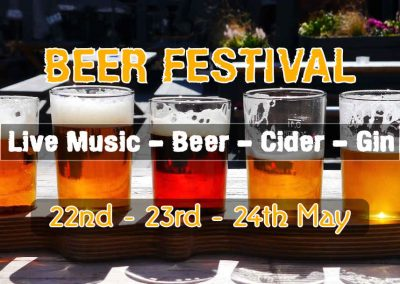 May 23rd – Beer Festival